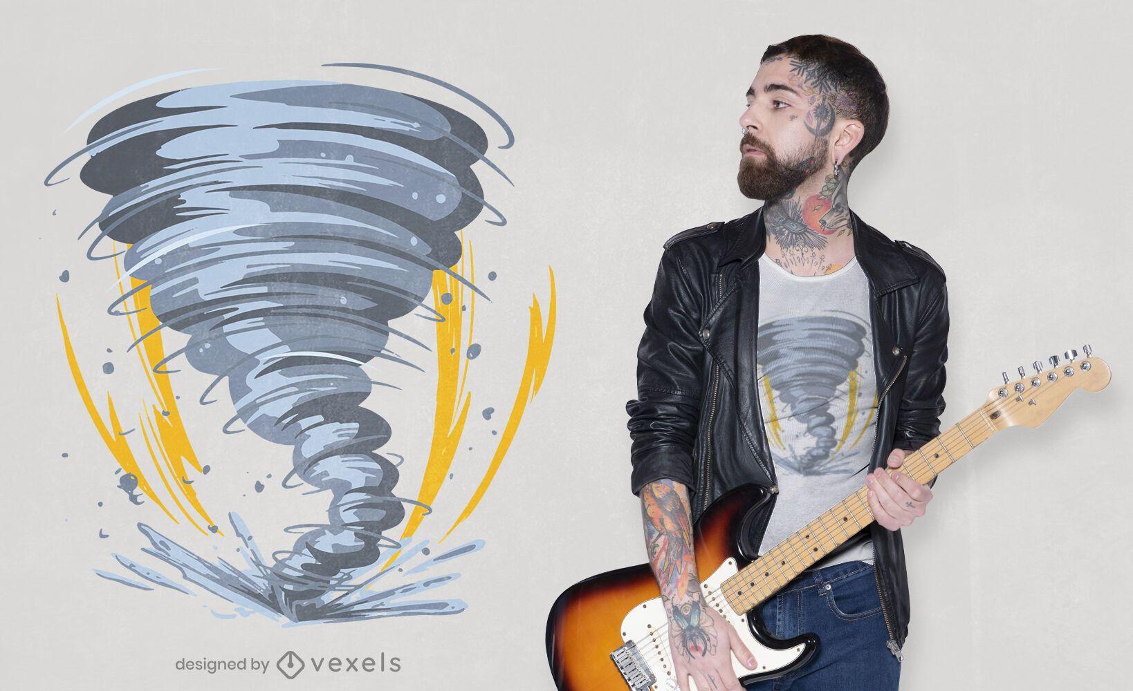 Diseño de camiseta Tornado