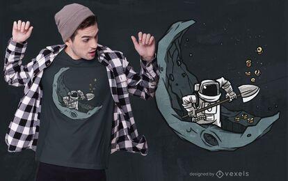 Diseño de camiseta astronauta crypto.