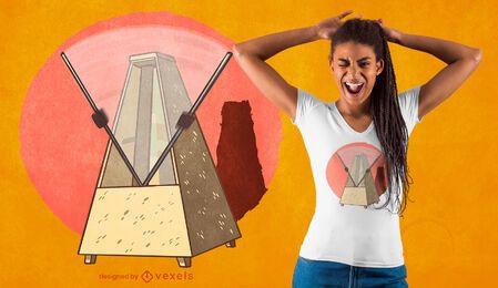 Design de camiseta metrônomo