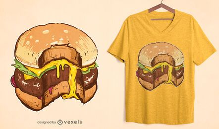Cheesy burger t-shirt design