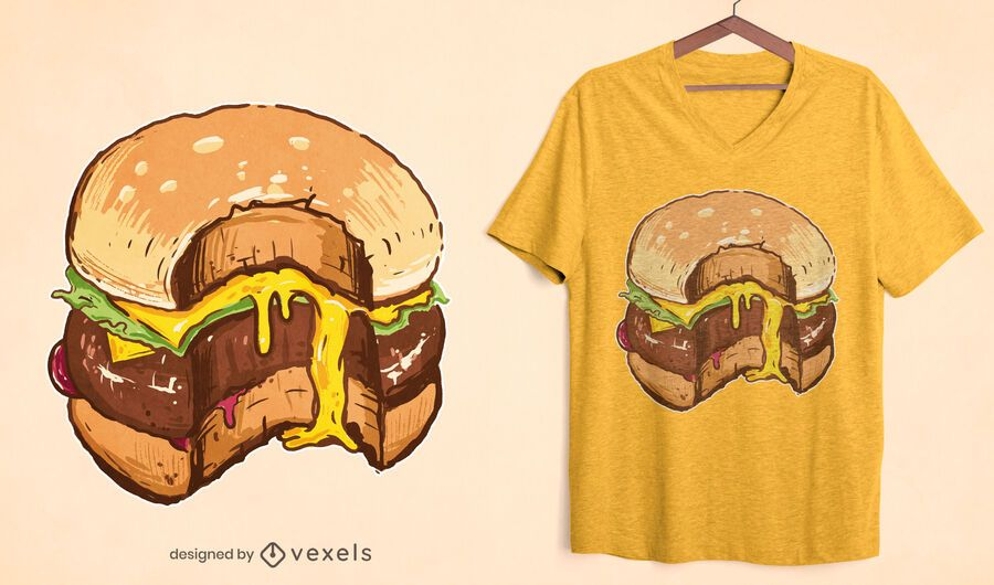 Cheesy burger t-shirt design