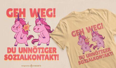 Diseño de camiseta unicorn fight