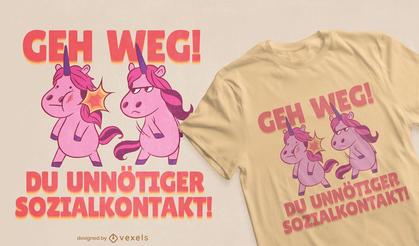 Unicorn fight t-shirt design