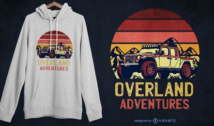 Overland adventures retro t-shirt design