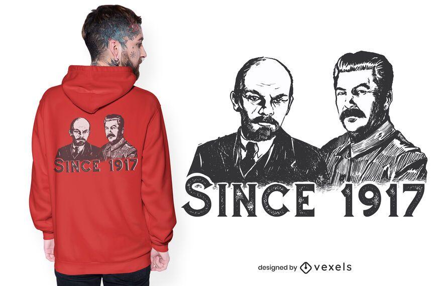 Lenin & Stalin T-Shirt Design