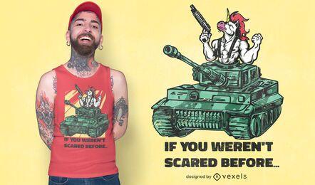 Diseño de camiseta de tanque unicornio