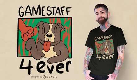 Design de camiseta Gamestaff Bull Terriers