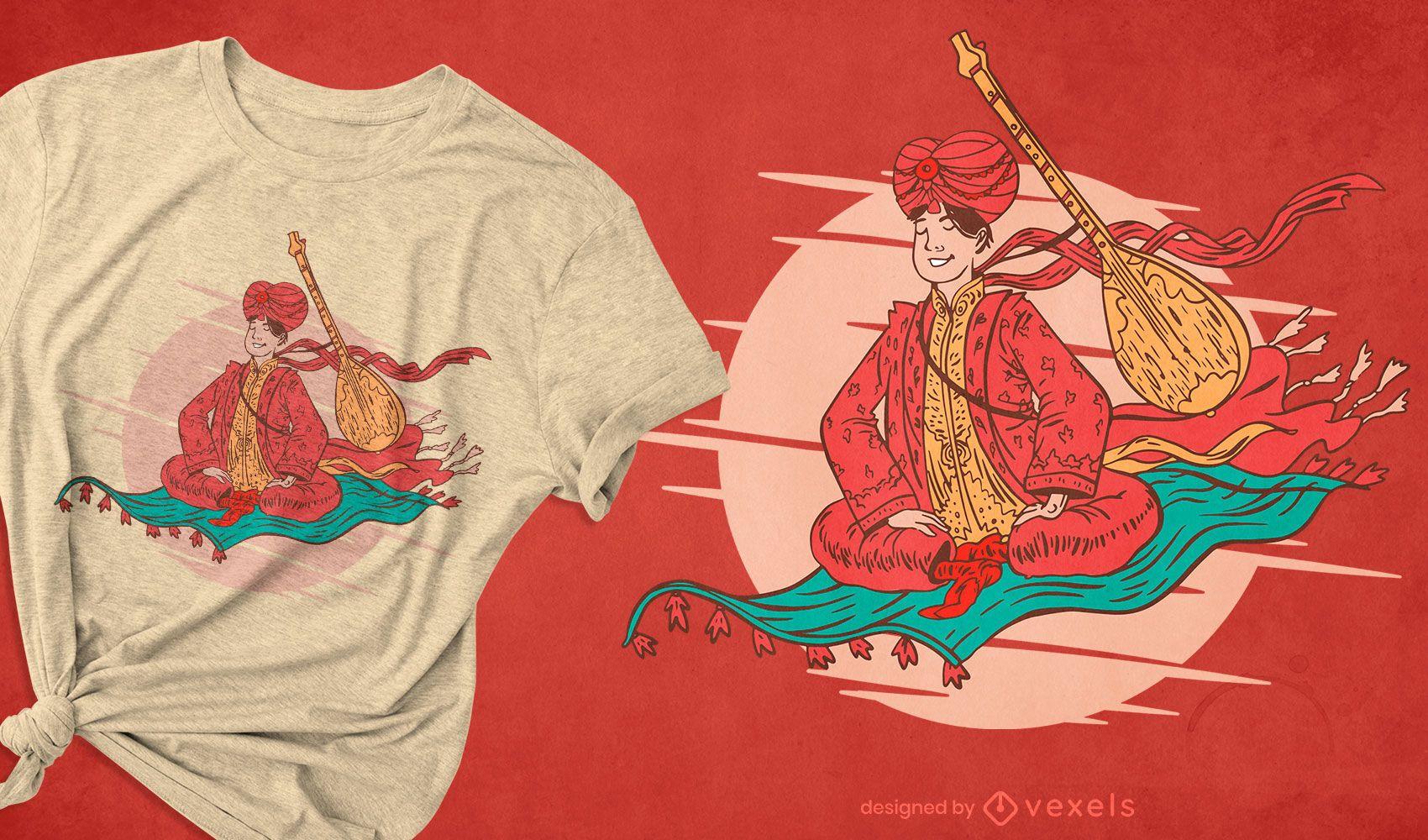 Flying carpet t-shirt design