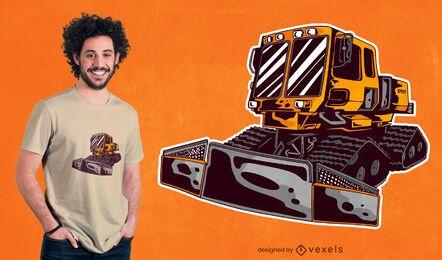 Design de camiseta limpa-neve