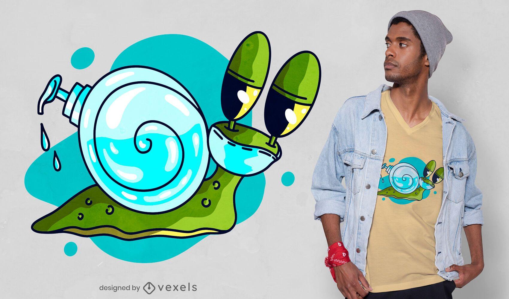 Diseño de camiseta de caracol covid