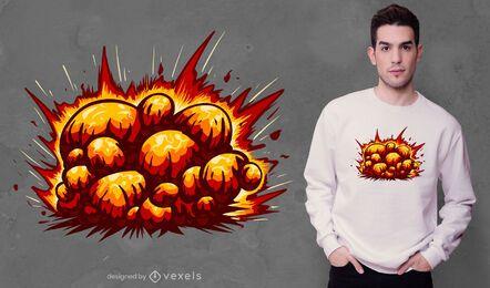 Design de camiseta explosiva