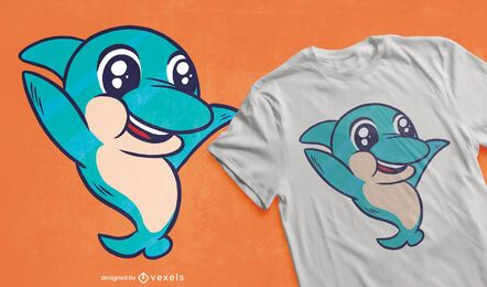 Cute baby dolphin t-shirt design