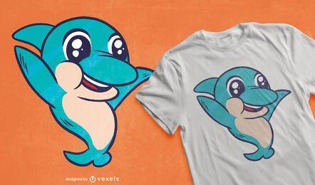 Design de camiseta golfinho fofo