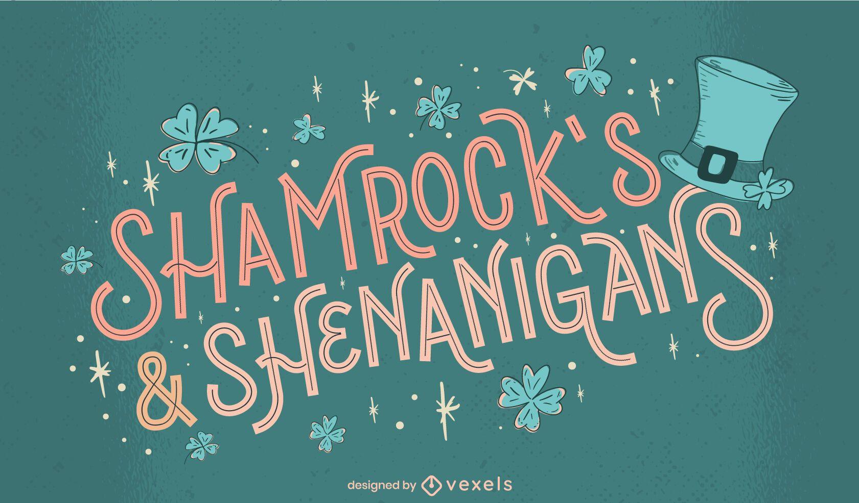 Letras de travesuras de St Patricks
