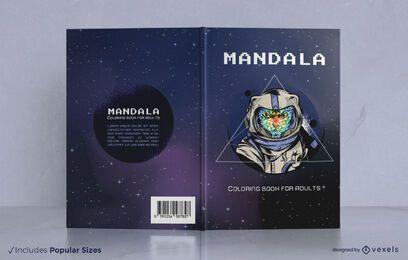 Diseño de portada de libro de gato astronauta