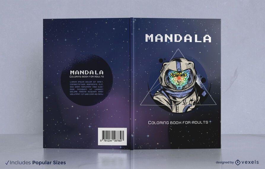 Astronaut cat book cover design