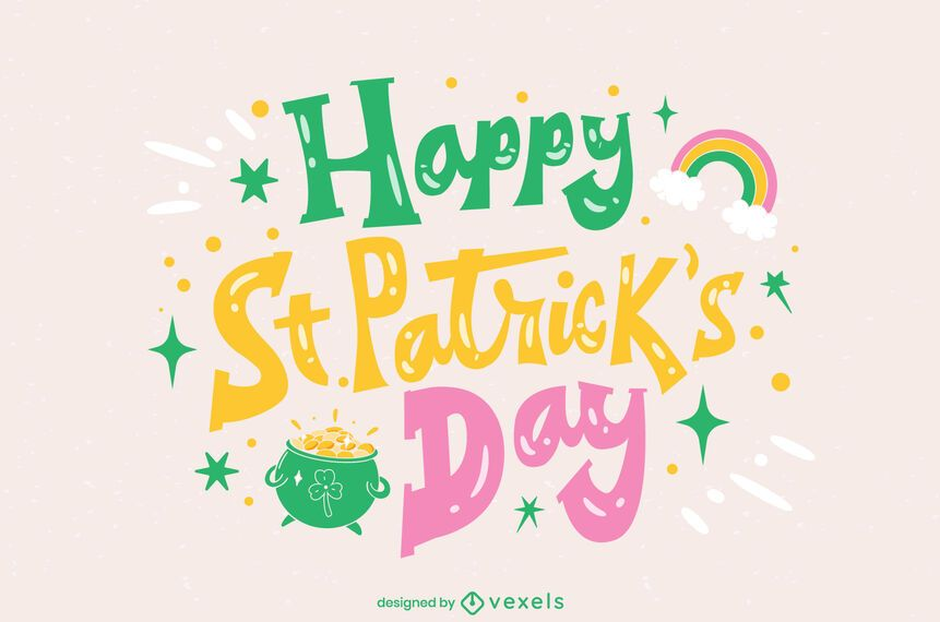 Saint Patricks Day lettering