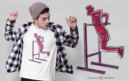 Diseño de camiseta dip fitness