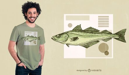 Pollock fish t-shirt design