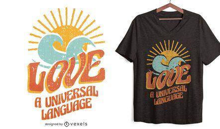Diseño de camiseta de idioma universal