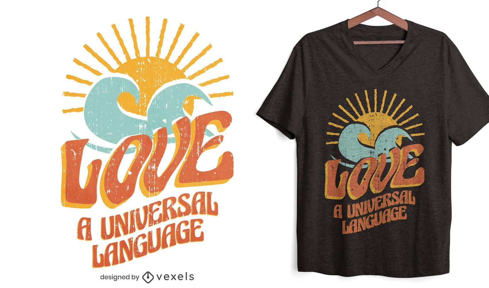 Universellsprachiges T-Shirt Design