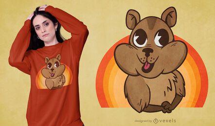 Design fofo de camiseta wombat