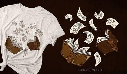 Buch Zauber T-Shirt Design
