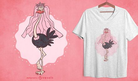 Ostrich bride t-shirt design