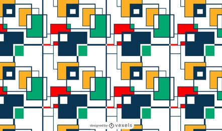 Colorful squares pattern design