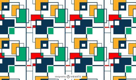 Diseño de patrón de cuadrados coloridos