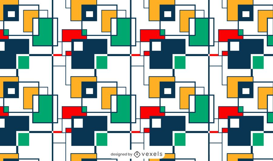 Colorful squares pattern design