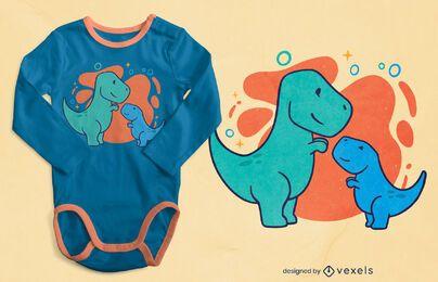 Design de t-shirt de dinossauros fofos
