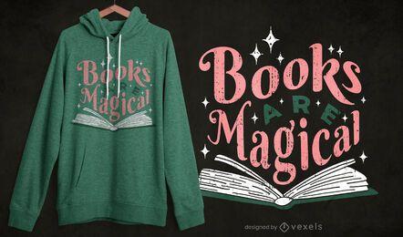 Bücher sind magisches T-Shirt Design