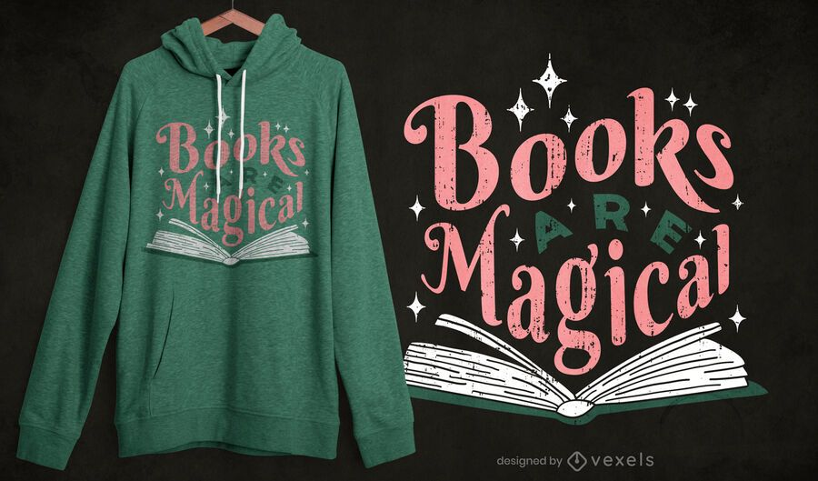 Books are magical t-shirt design