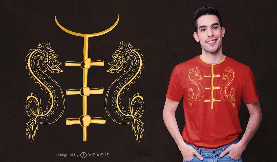 Design de camisetas com fantasia chinesa