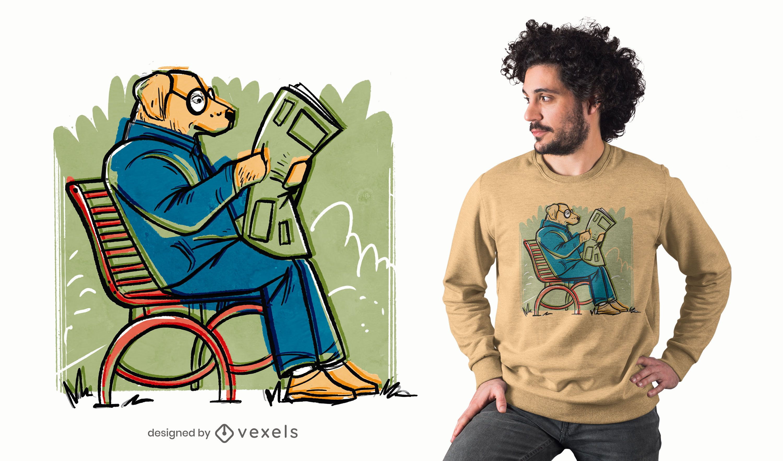 Zeitungshunde-T-Shirt Design