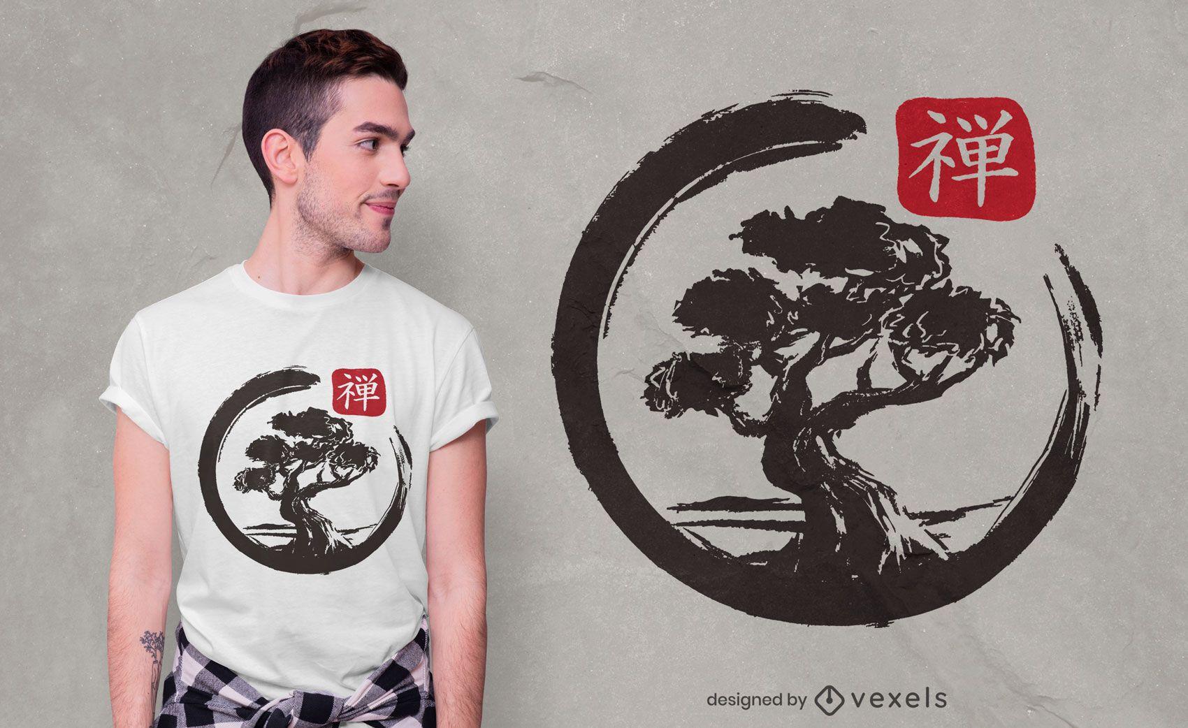 Bonsai enso t-shirt design