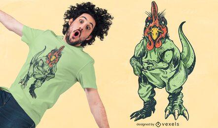 Diseño de camiseta Chicken T Rex