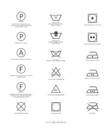 Vetor livre de símbolos de cuidados