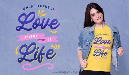 Donde hay amor camiseta psd