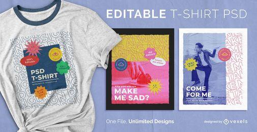 Sticker scalable t-shirt psd
