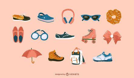 Conjunto de accesorios de ropa