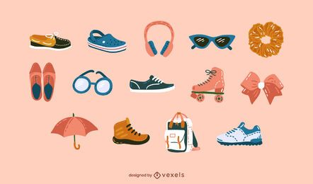 Conjunto de acessórios de roupas