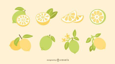 Conjunto de limão liso