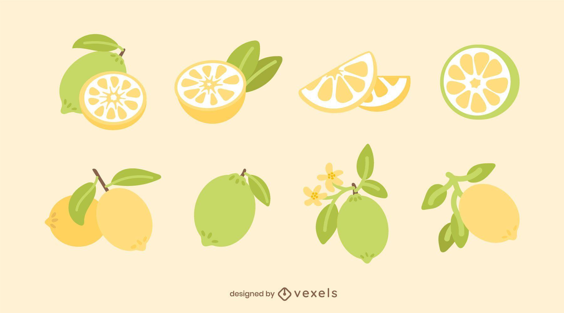 Flat lemon set