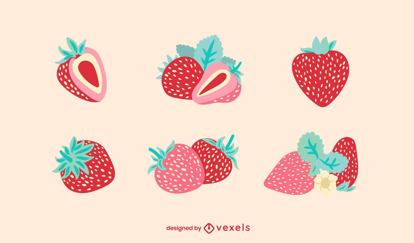 Flat strawberry set