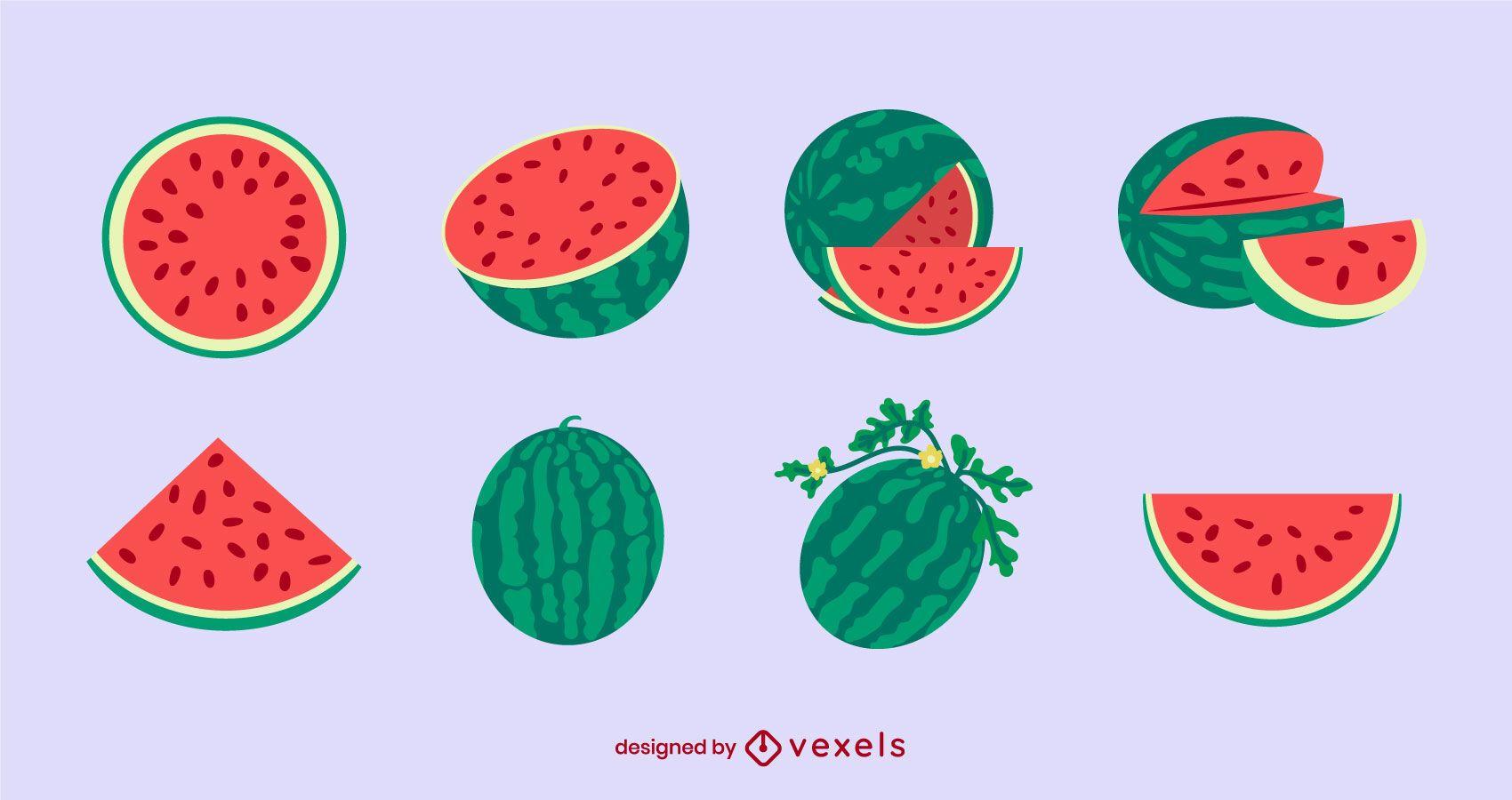 Flat watermelon set