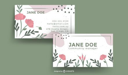 Floral nature business card