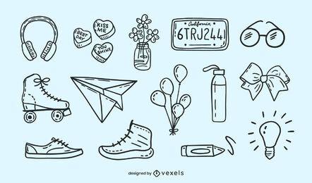 Doodle miscellaneous set