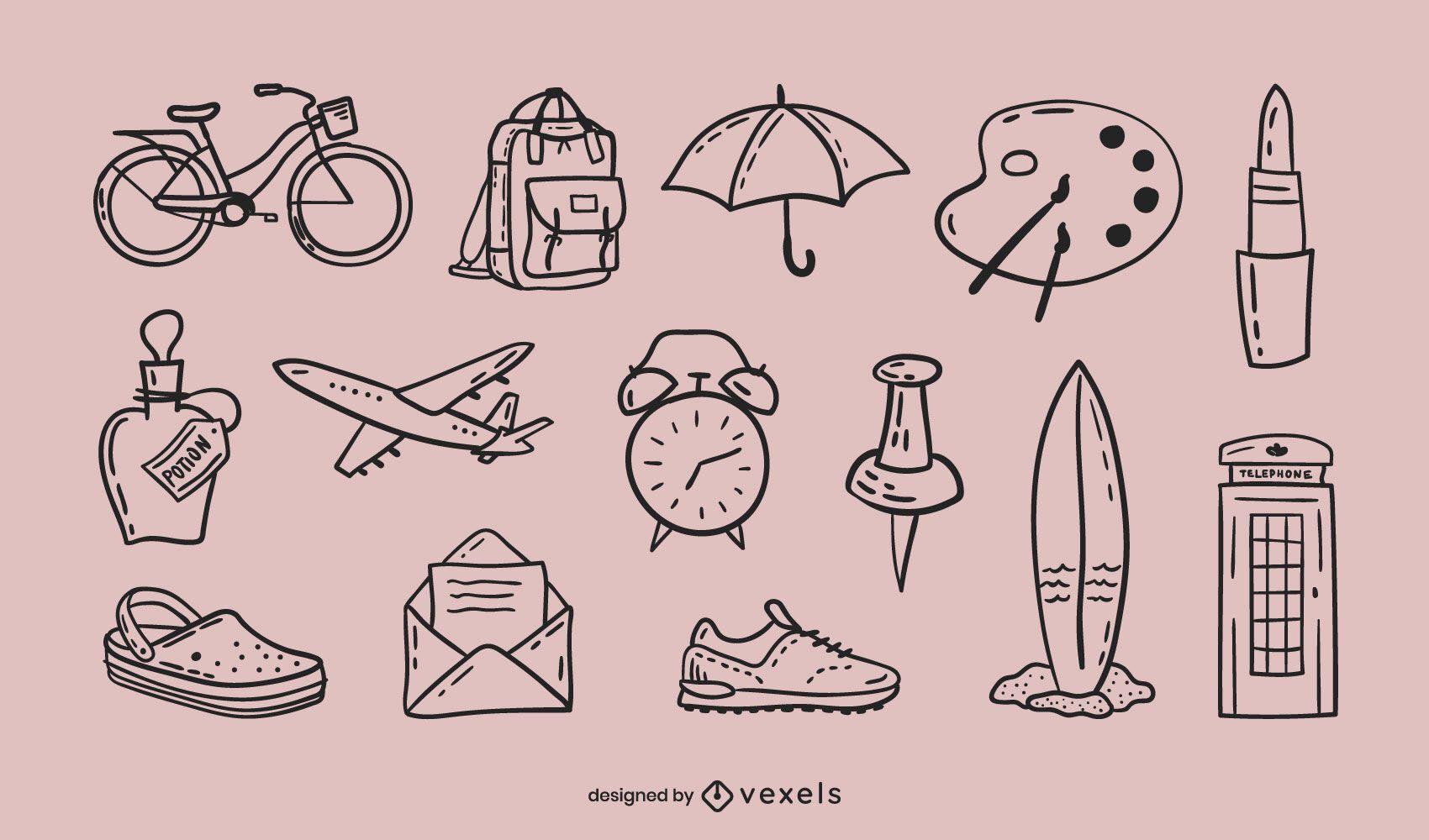 Misc doodle set